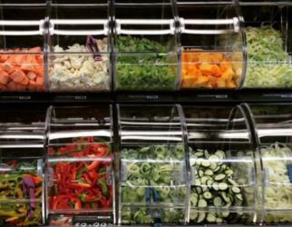 udskårne grøntsager